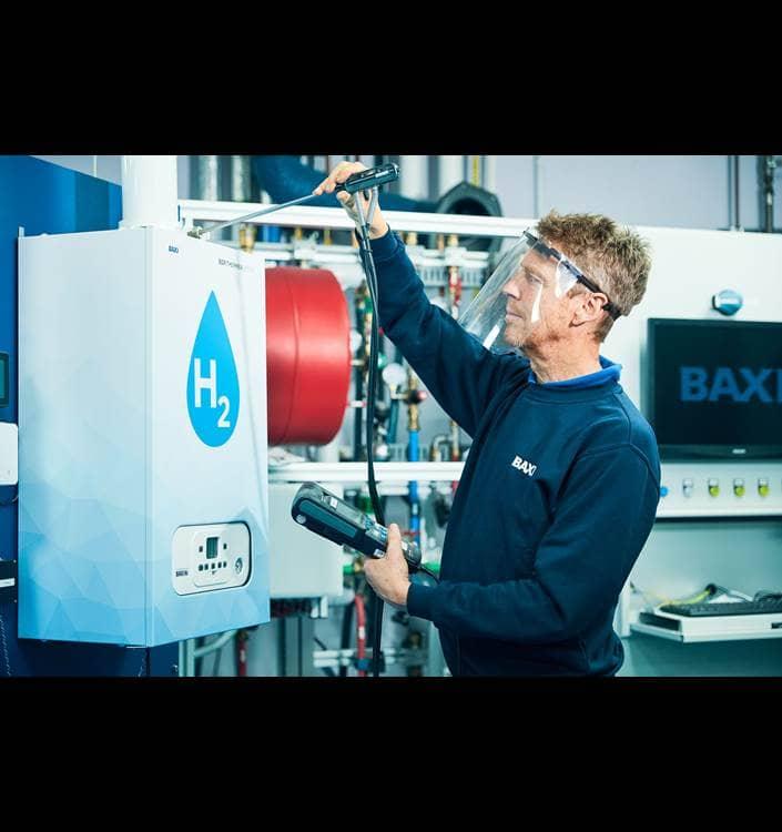 RD testing 100 hydrogen boiler