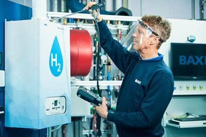 RD testing 100per cent hydrogen boiler